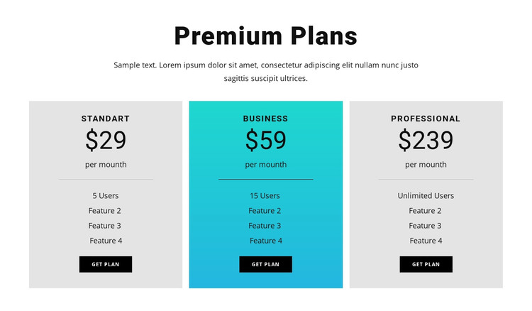 Premium Plans WordPress Theme
