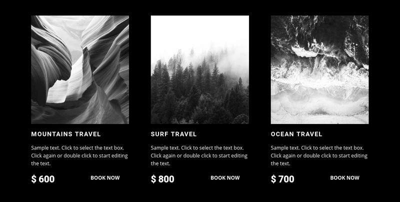 Explore the nature Web Page Design