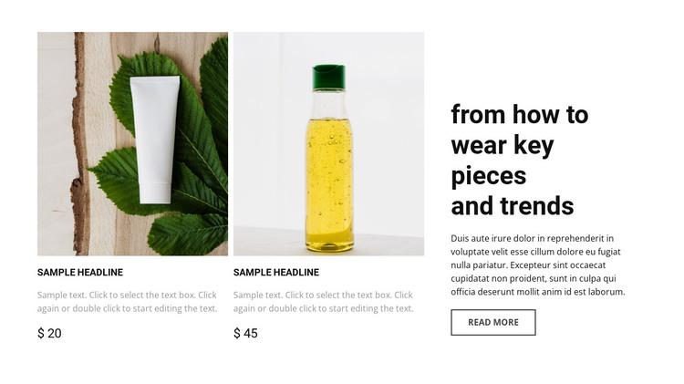 Beauty shop HTML Template