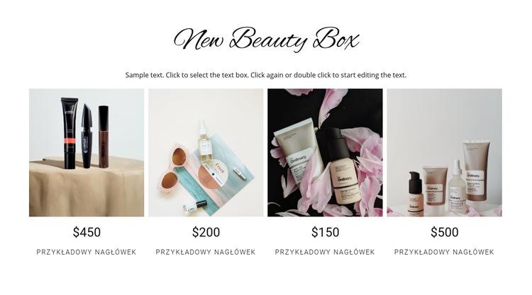 Pudełko kosmetyczne Szablon witryny sieci Web