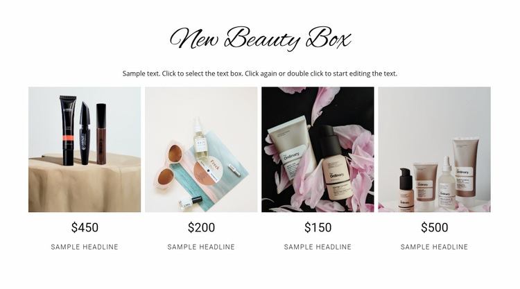 Beauty box WordPress Website