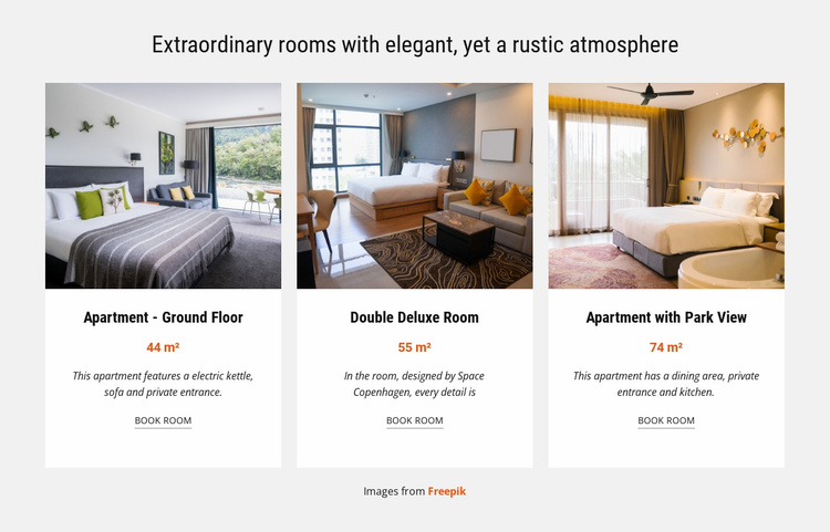 Extraordinary Rooms Landing Page