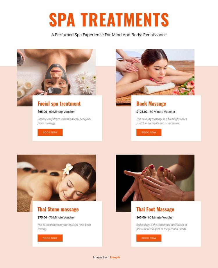 Different spa treatments WordPress Theme