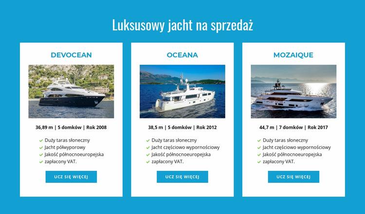 Sprzedam luksusowe jachty Szablon Joomla