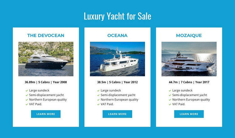 Luxury Yachts for Sale Static Site Generator