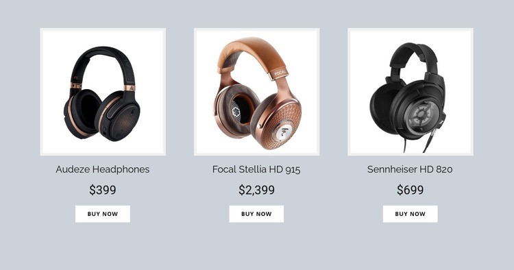 Buy Headphones Online Homepage Design