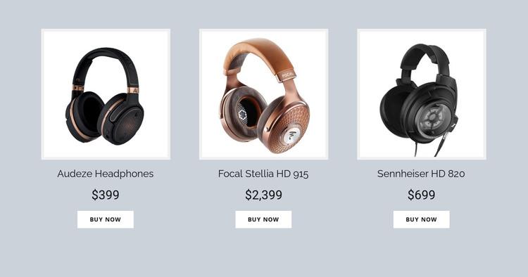 Buy Headphones Online HTML Template