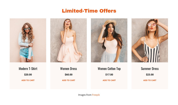 Limited-Time Offers HTML Template