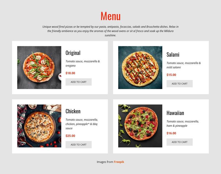 Pizza Online Joomla Template
