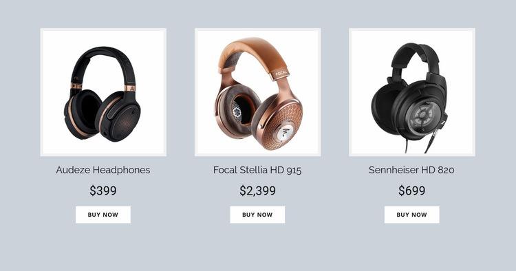 Buy Headphones Online Website Builder
