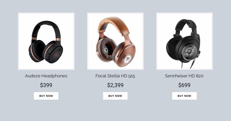Buy Headphones Online Website Template