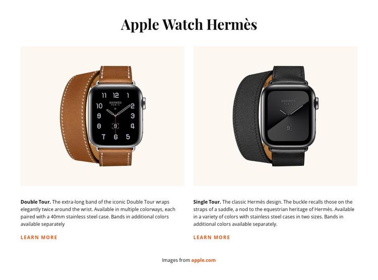 Apple Watch Hermes HTML Template