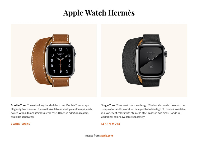 Apple Watch Hermes One Page Template