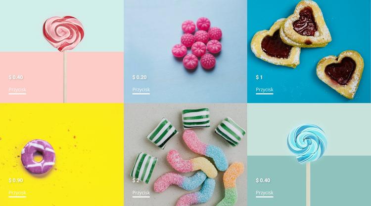 Kolekcja słodyczy Szablon witryny sieci Web