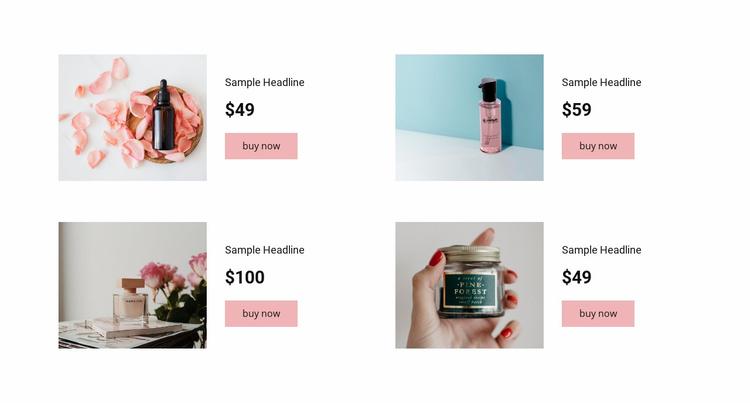 Buy cosmetics Website Template