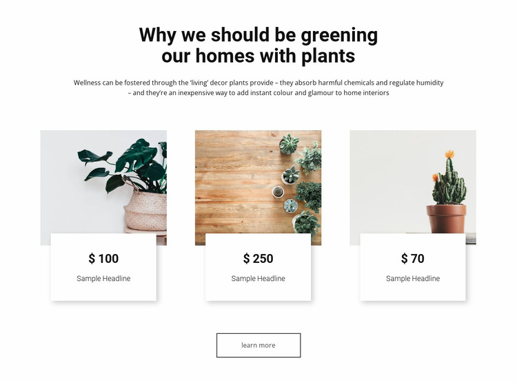 Greening our homes Website Mockup