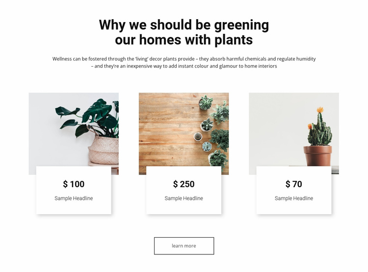 Greening our homes Website Template