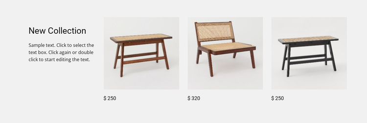 Garden furniture Website Template