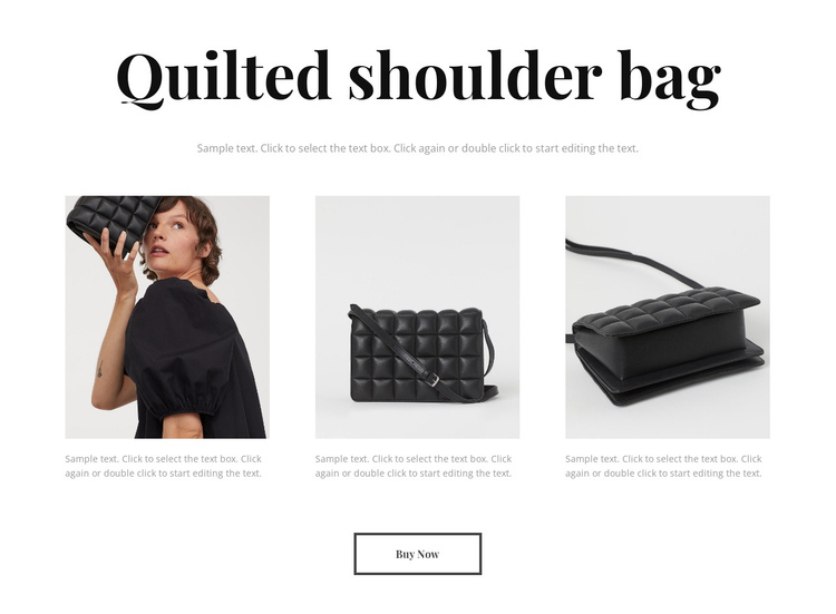 New bag collection One Page Template