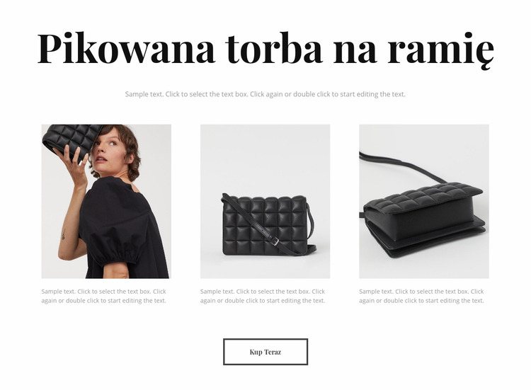 Nowa kolekcja toreb Szablon Joomla