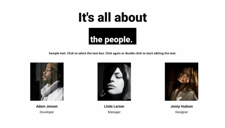 It's all about the people Website Template