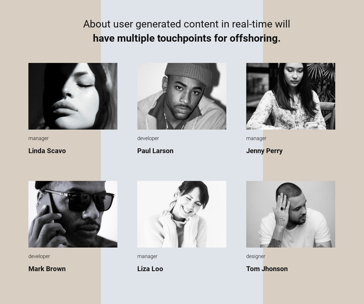 Our team story HTML Template