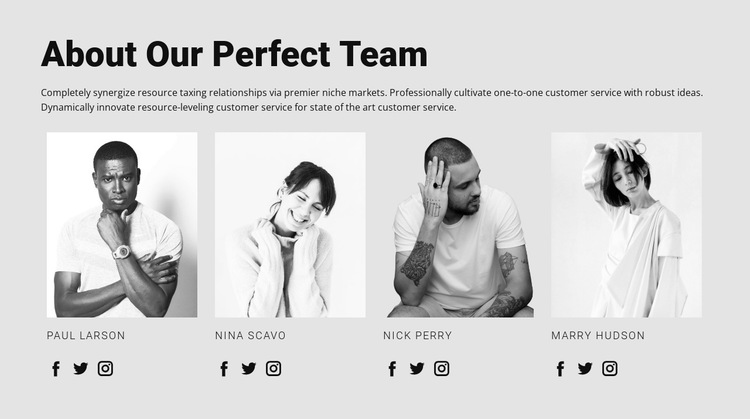 Our team HTML5 Template