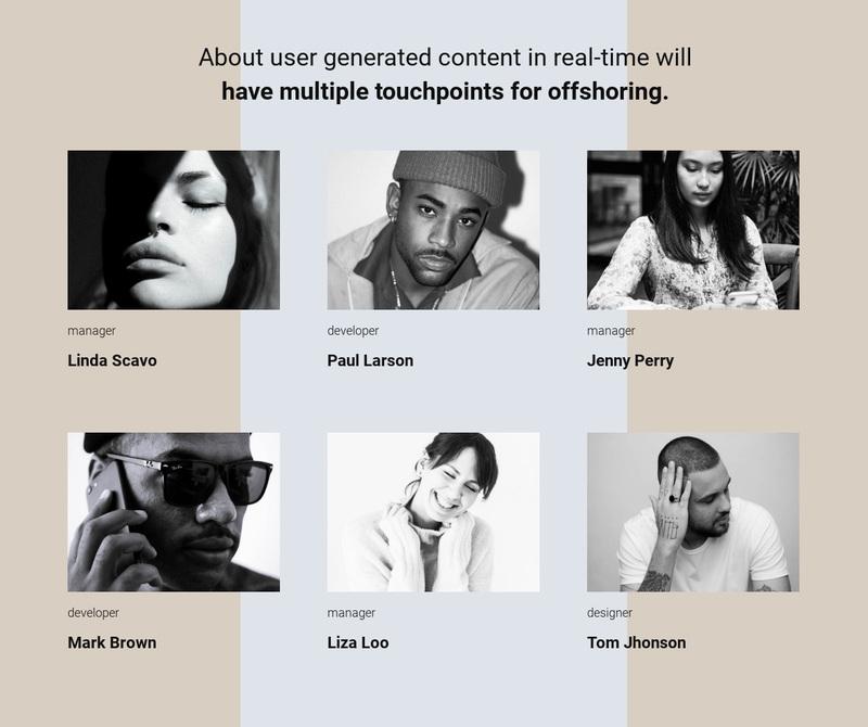 Our team story Website Creator