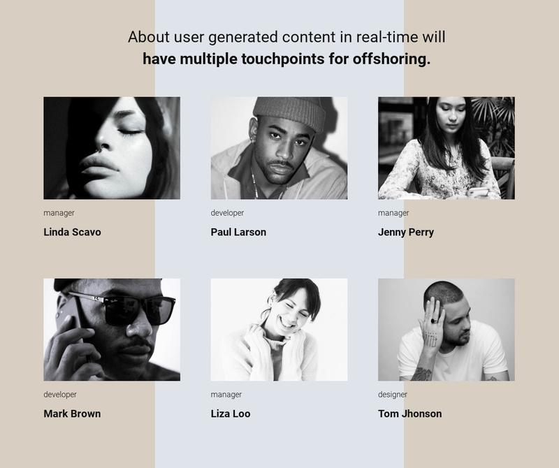 Our team story Website Maker
