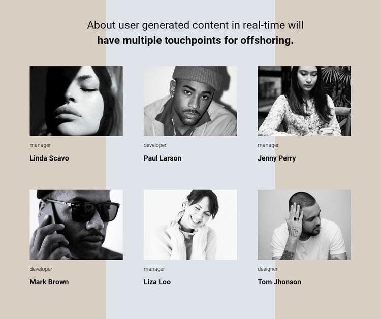 Our team story WordPress Theme
