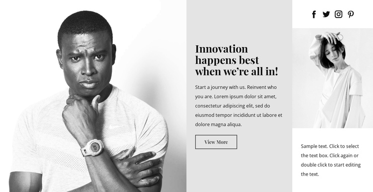 Business innovations One Page Template