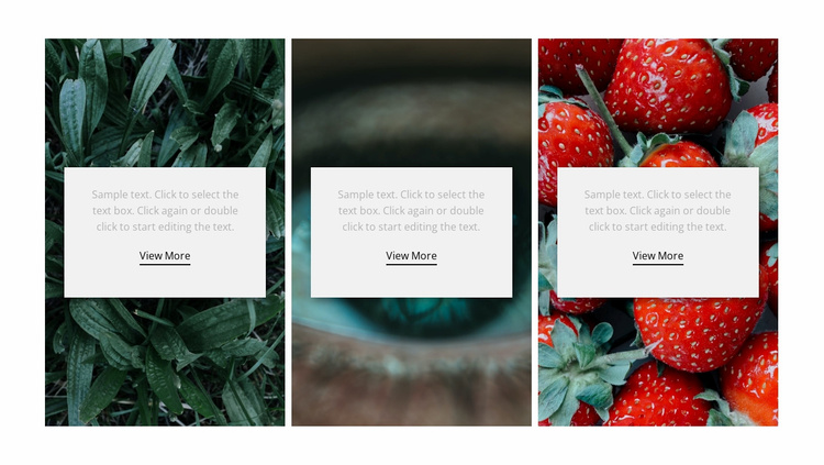 Nature and healthy Landing Page
