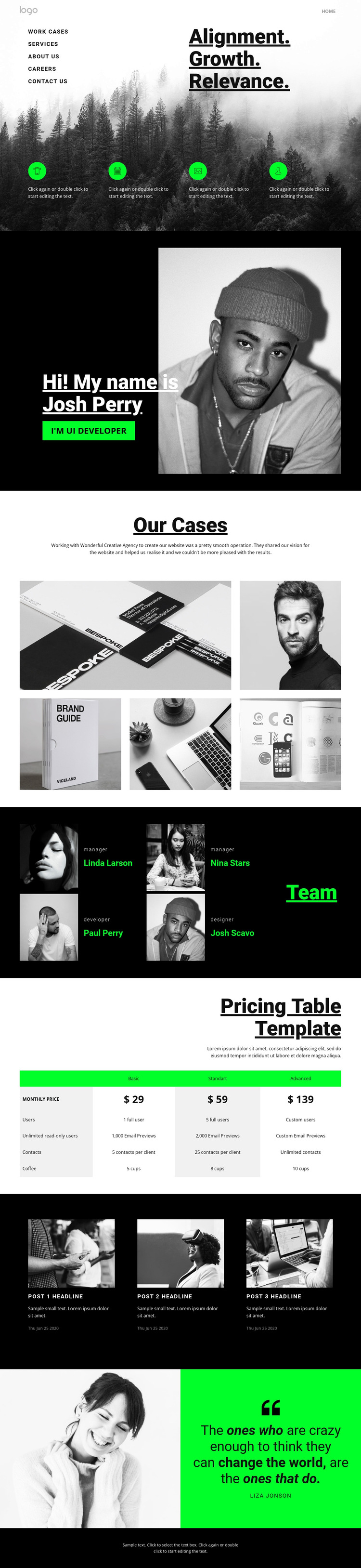 Relevance in business HTML5 Template