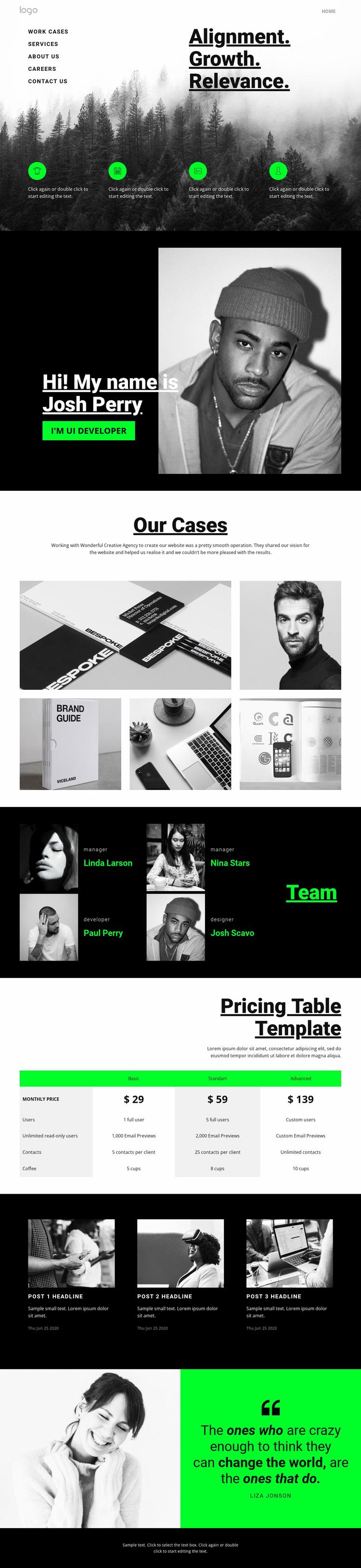 Relevance in business Website Design