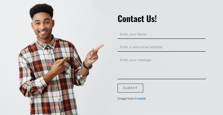 Please fill in the form below Website Builder Software