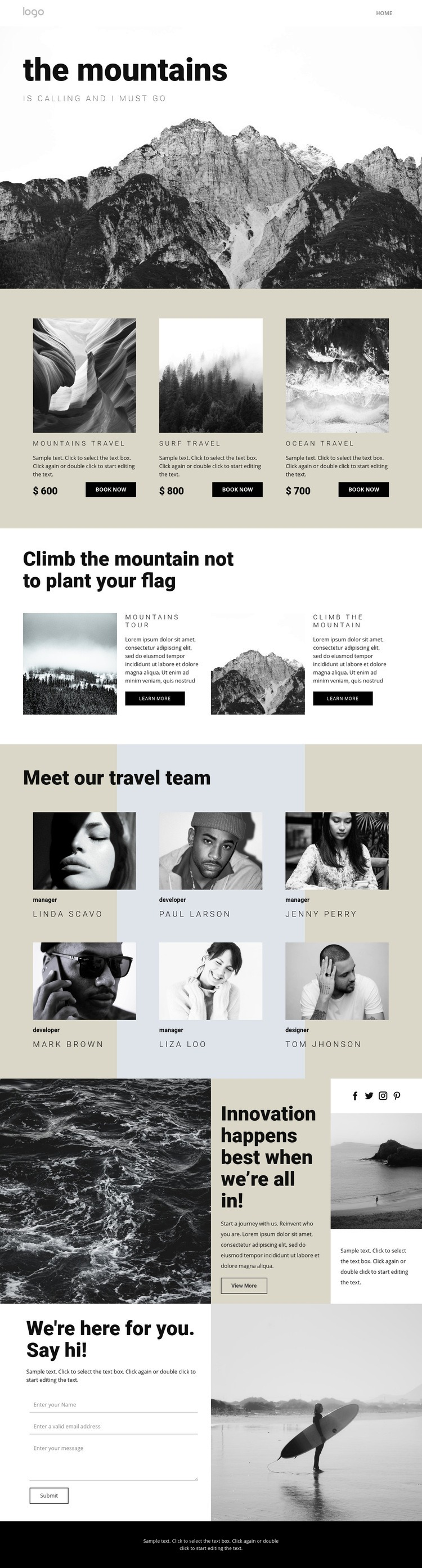 Agency for people who travel Html Code Example