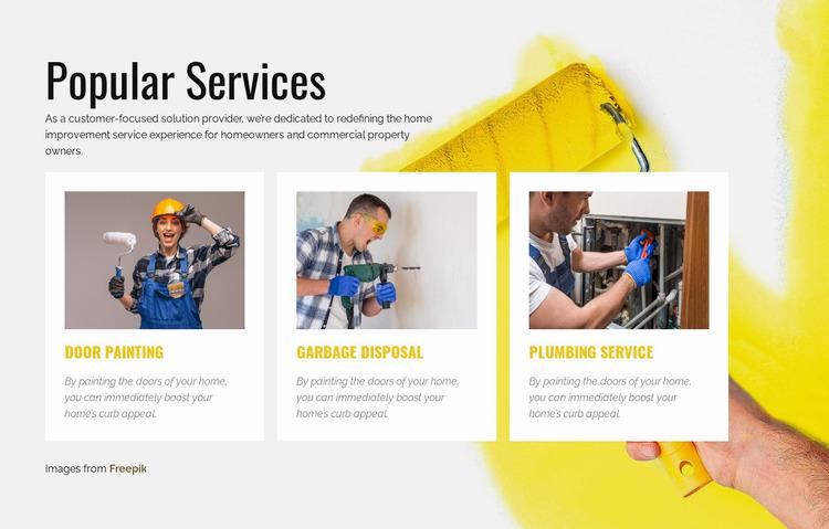 Popular Home Repair Services Website Mockup