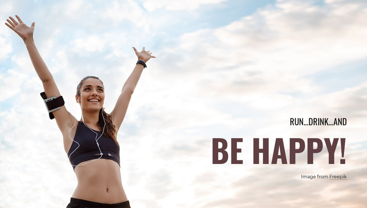 Run and Be Happy! One Page Template