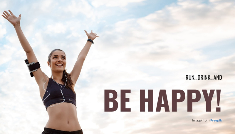 Run and Be Happy! Web Page Design