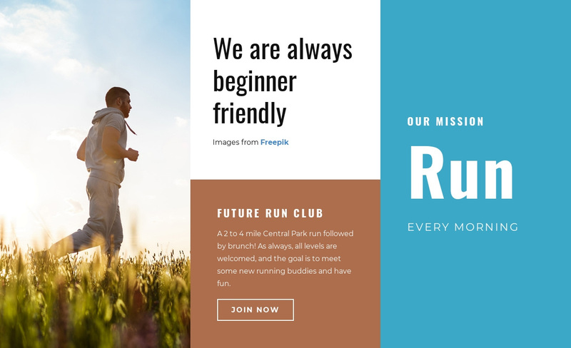 Run Every Morning Web Page Design