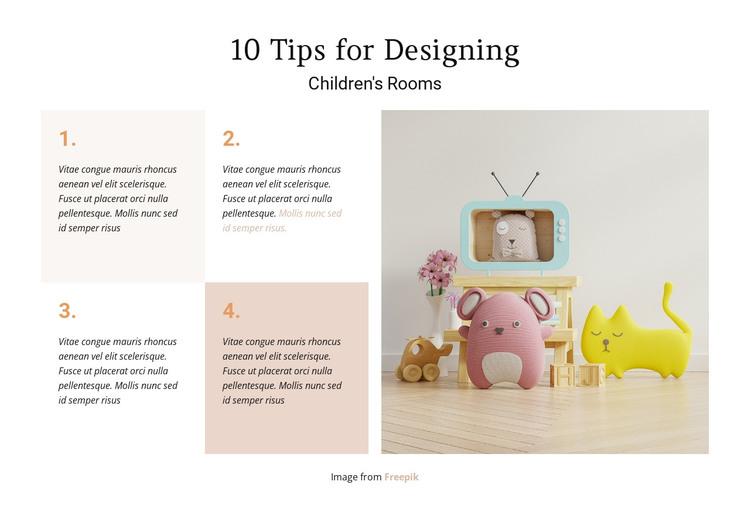 Children's rooms Woocommerce Theme