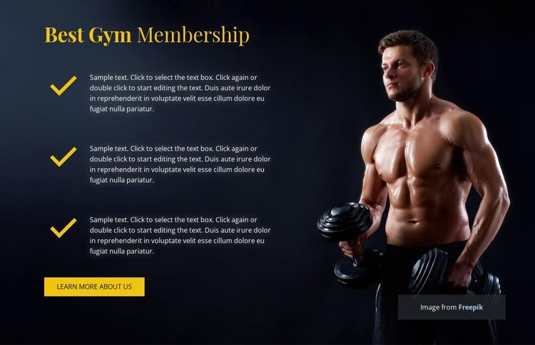 Best Gym Membership CSS Template