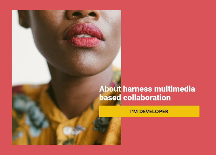 About our collaboration Website Template