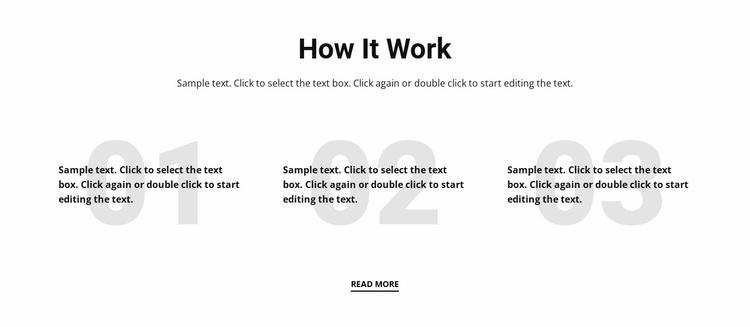 How it work Website Template