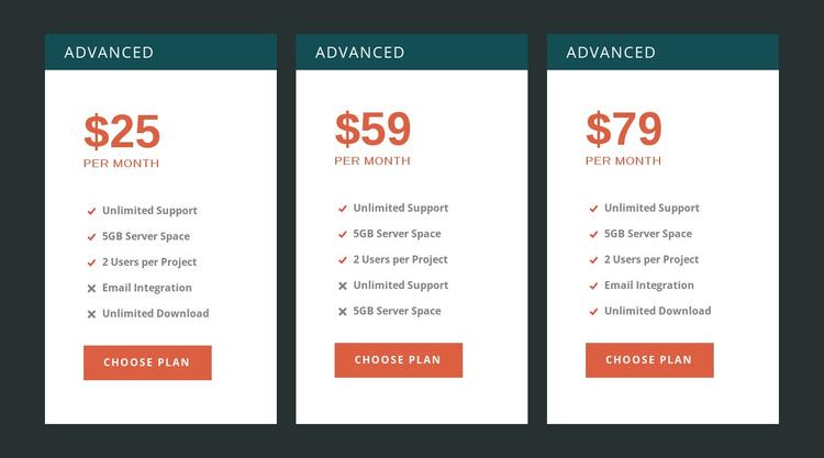 Premium pricing Website Builder Software