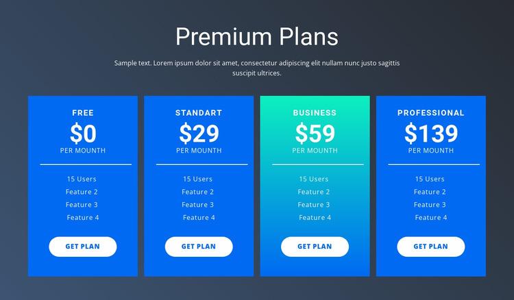 Value-based pricing Html Website Builder