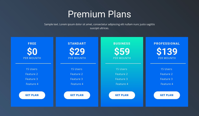Value-based pricing Web Page Design