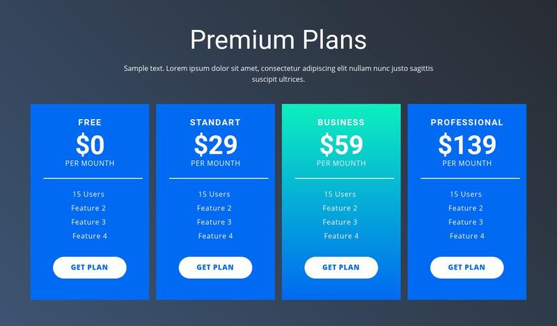 Value-based pricing Website Maker