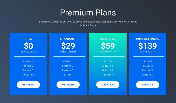 Value-based pricing Website Mockup