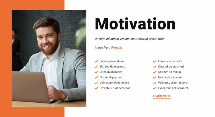 Motivate your employees Landing Page